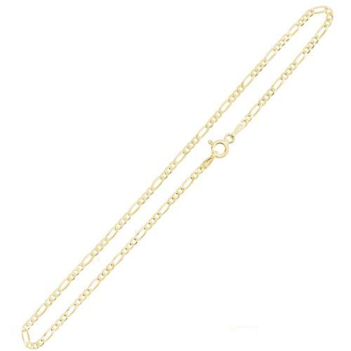 2 mm largeur Plaqué or Argent STERLING Figaro Chaîne Collier Bracelet Bracelet