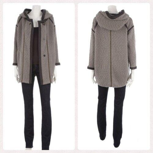 Manteau Coat ISABEL MARANT Laine bouclée & Cuir Talla  2 (38 42)  NEUF  venta