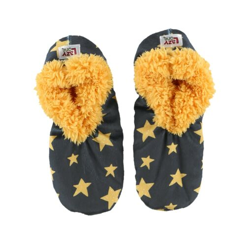 LazyOne Womens Stars Fuzzy Feet Slippers Adult