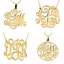 Choose your Favorite Style 24K Gold Plated Monogram Necklaces