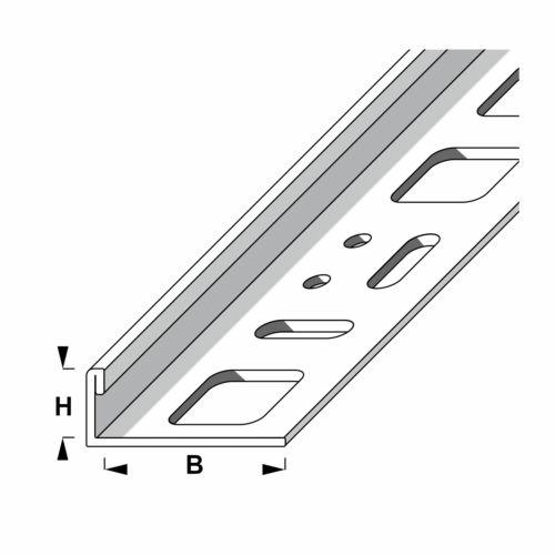 alfer 1 m Fliesenschiene Edelstahl V2A Höhe 8 10 12,5 mm L-form Winkelprofil
