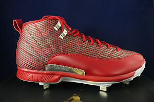 854567 600 12 Cleats 14 Nike Argento Jordan Xii Gym Rosso Air Metal Retro Sz 0wvNnm8O