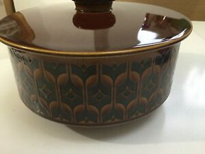 Vintage-Retro-Hornsea-Heirloom-1976-Tureen-Casserole-Pot-Serving-Dish-Lid