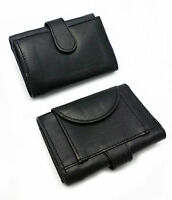 REAL GENUINE LEATHER MENS LADIES TRI FOLD WALLET DESIGNER CARD COIN PURSE GIFT