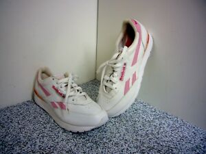 a089a1111a075a Image is loading Reebok-Classic-White-Leather-Pink-Series-Womens-Size-