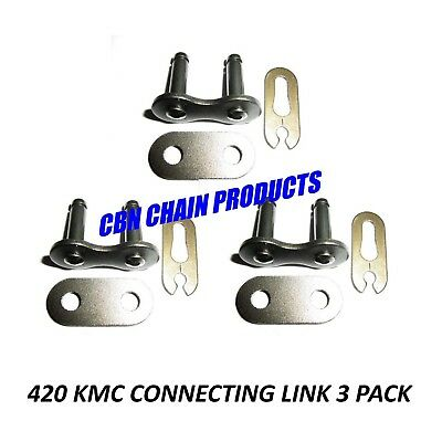 420 MASTER LINK 420 KMC CONNECTING LINK CHAIN SCOOTER MOPED  LINK PACK OF 3