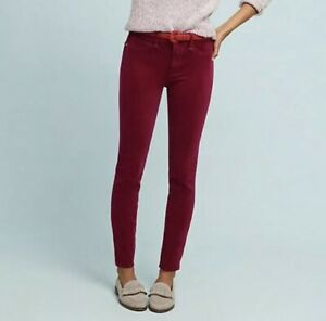 NWT-Anthropologie-Pilcro-Pink-Corduroy-High-Rise-Skinny-Ankle-Pants-Jeans-25