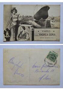 Cartolina-postcard-Varo-della-Regia-Nave-034-Andrea-Doria-034-30-Marzo-1913-Spezia