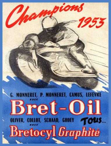 Decoration Poster.Home room art.Interior design.Motorcycle race.Bret Oil.7451