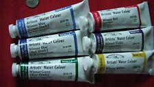 6 Winsor & Newton Artist's Watercolor Paints, HUGE 37ml
