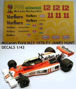 DECALS-KIT-1-43-McLaren-Ford-M23-1976-F1-JAMES-HUNT
