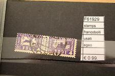 FRANCOBOLLI STAMPS EGEO USATI (F61929)