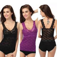 Sexy Womens Crochet Lace Floral Top T shirt Tees Short Sleeve Blouse Sheer Vest