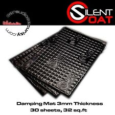 Silent Coat - Black 3mm Sound Damping Bulk Pack 30 Sheets 375 x 265 mm