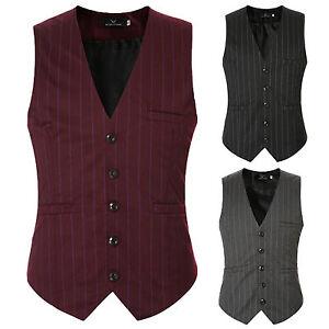hombre-rayas-Esmoquin-Traje-Camiseta-Vestido-Formal-Negocios-Ajustado-Chaqueta