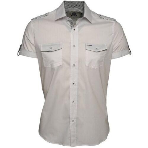 Guide LondonMens Slim Silhouette ShirtHalf SleeveHS1857White