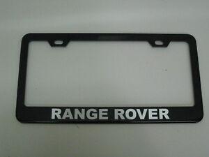 *RANGE ROVER* BLACK Metal License Plate Frame