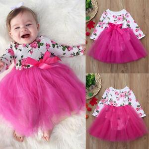 ac06c3fc6 Newborn Toddler Kids Baby Girl Floral Princess Tutu Romper Dress ...