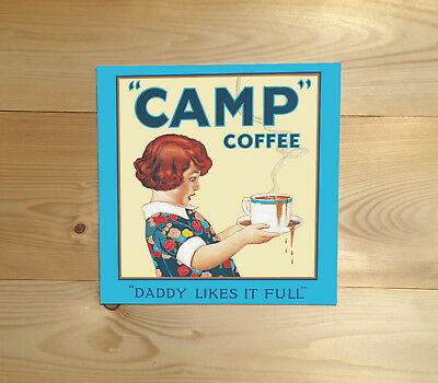 Camp Coffee Army /& Navy Forces Kitchen Vintage Small Metal Steel Sign