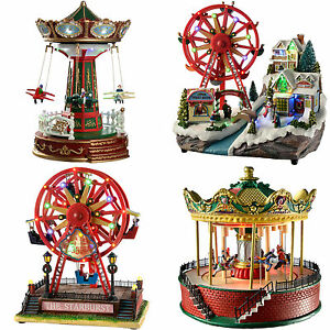 Pre Lit Led Animated Christmas Decoration Rotating Ferris