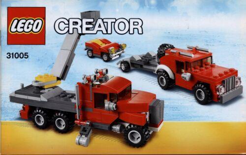 keine Steine! 2 Hefte -Bauanleitung Lego Creator # 31005 Construction Hauler