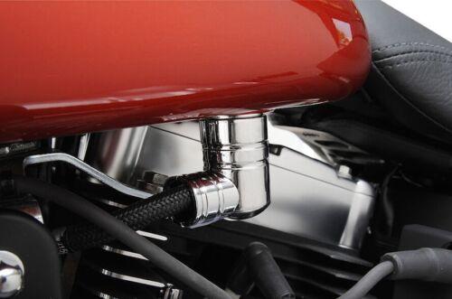 Chrome EFI Fuel Line Fitting Cover For Harley Touring Dyna Super Glide EFI FXDI