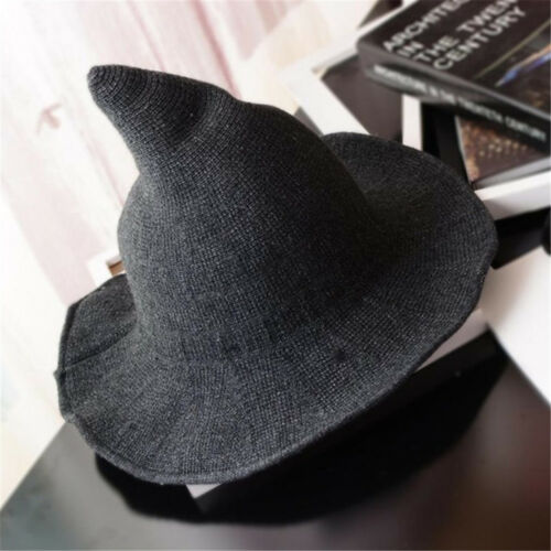Modern Witch Hat Made From High Quality Sheep Wool Halloween Party Witch Hats #S