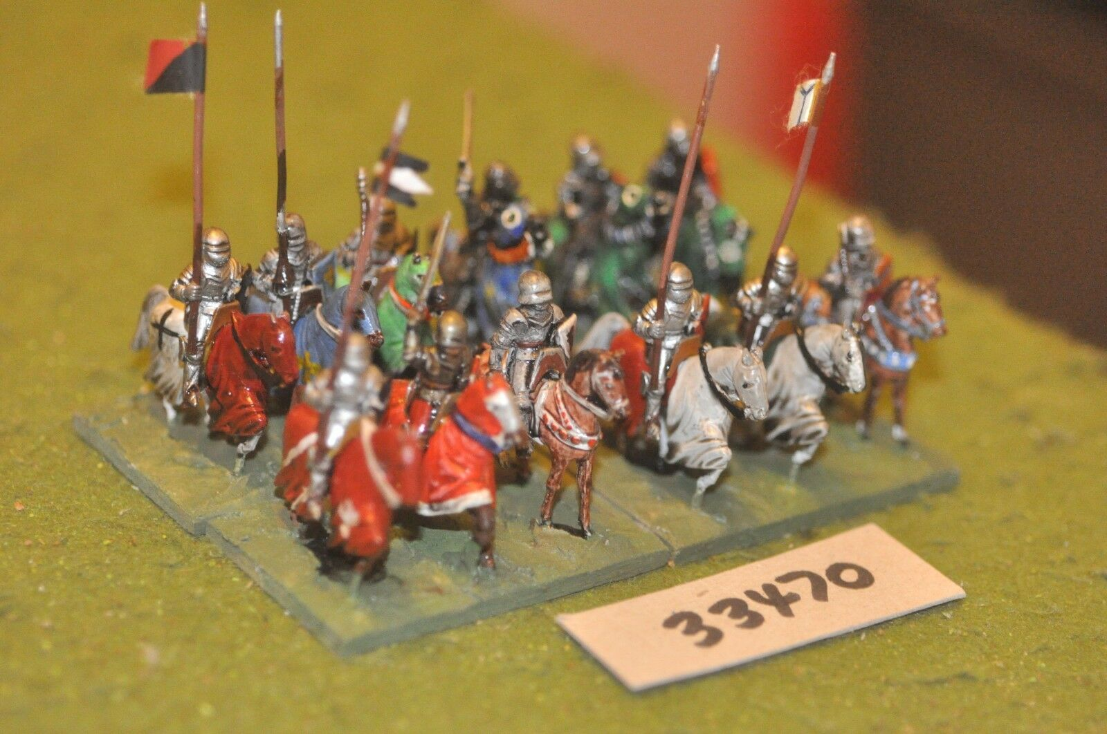 25mm medieval inglés-Men at Arms 12 figuras-CAV (33470)