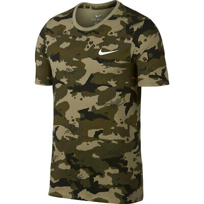 MEN'S NIKE CAMO AOP Dry Tee Dri FIT T SHIRT TRAINING OLIVE GREEN 225 XXL 884497477770 | eBay