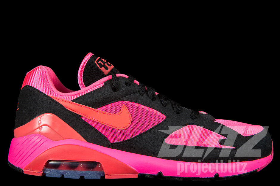 NIKE AIR MAX 180 CDG Sz 5.5-13 LASER PINK SOLAR RED BLACK AO4641 601