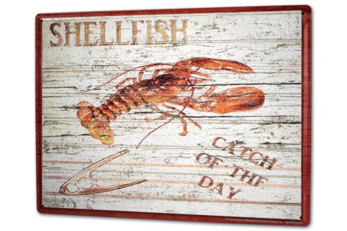 Tôle Plaque XXL Proverbes Homard pêche du jour