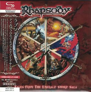 RHAPSODY-Tales-From-The-Emerald-Sword-Saga-Japan-Mini-LP-SHM-CD-Luca-Turilli