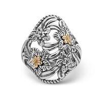 Carolyn Pollack Sterling Silver & Brass Desert Rose Ring 7