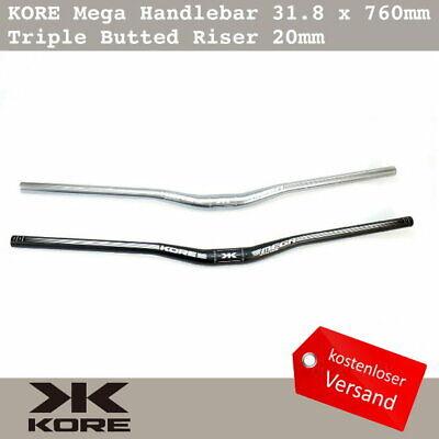 KORE Mega Bike Handlebar 31.8 x 760mm AL7075-T6 Triple Butted Riser 20mm MTB