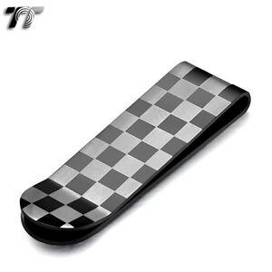 UNIQUE-T-amp-T-BLACK-Stainless-Steel-Chess-MONEY-CLIP-NEW-MC09D