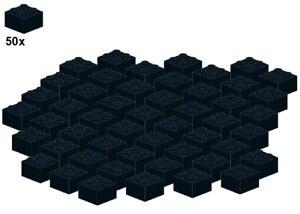 Used-LEGO-Bricks-Black-3003-04-2x2-50Stk-Stein-Schwarz