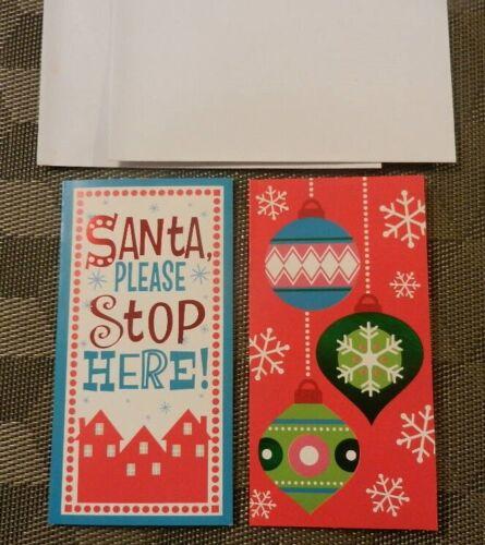 LOT OF gift card holders cards W envelopes Merry Christmas /& Santa Money 2
