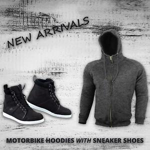 Motorcycle-Armored-Hoodie-Jacket-Waterproof-Motorbike-Leather-Shoes-Touring-Boot