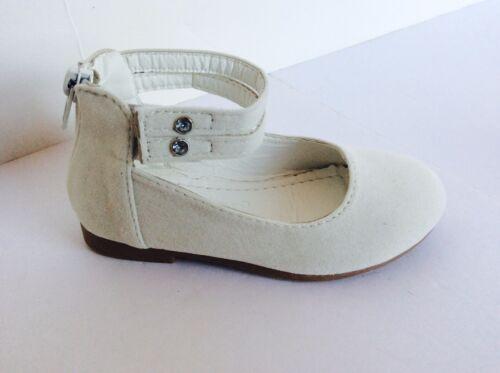TEAM REPORTER-1K Girls Kids suede strap ballet flats shoes   black white tan