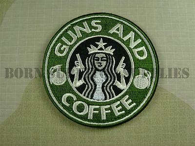 GUNS AND COFFEE FABRIC PATCH - Tactical Morale Airsoft Badge
