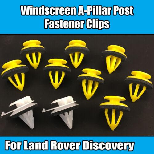 Clips Kit para Land Rover Discovery LR3 Parabrisas A-Pilar Post Trim Sujetador