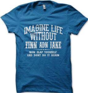 Adventure Time FINN and JAKE cartoon network black cotton printed t-shirt 9938