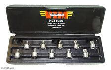 Stubby Torx Socket Driver Bits 10 Pc Set Vim Tools 14 Drive Automotive