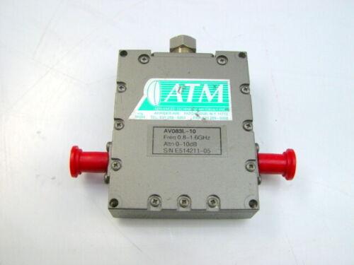 10dB 0.8-1.6GHz ATM AV083L-10 Coaxial Variable Attenuator