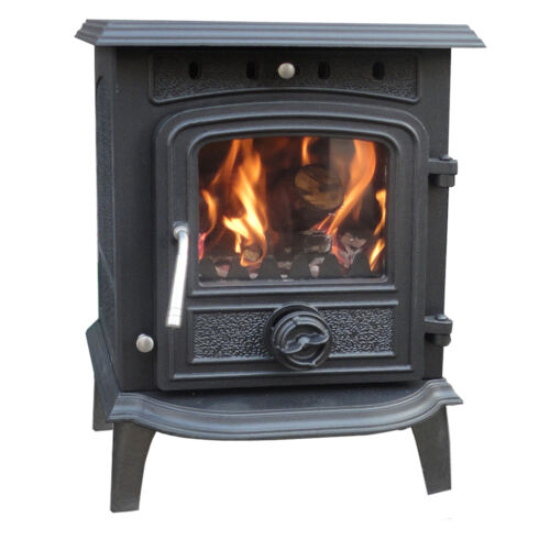 Greetwell Multifuel Log Burning Cast Iron WoodBurner Woodburning Stove Fireplace