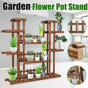 Plant-Stand-Flower-Rack-Wood-Outdoor-Indoor-Wooden-Shelf-Garden-Bosani-Display