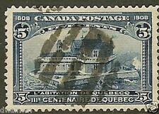 Canada 1908 Quebec Tercentenary, 5¢ Blue, Sc #99, Used VF - CV $100.00