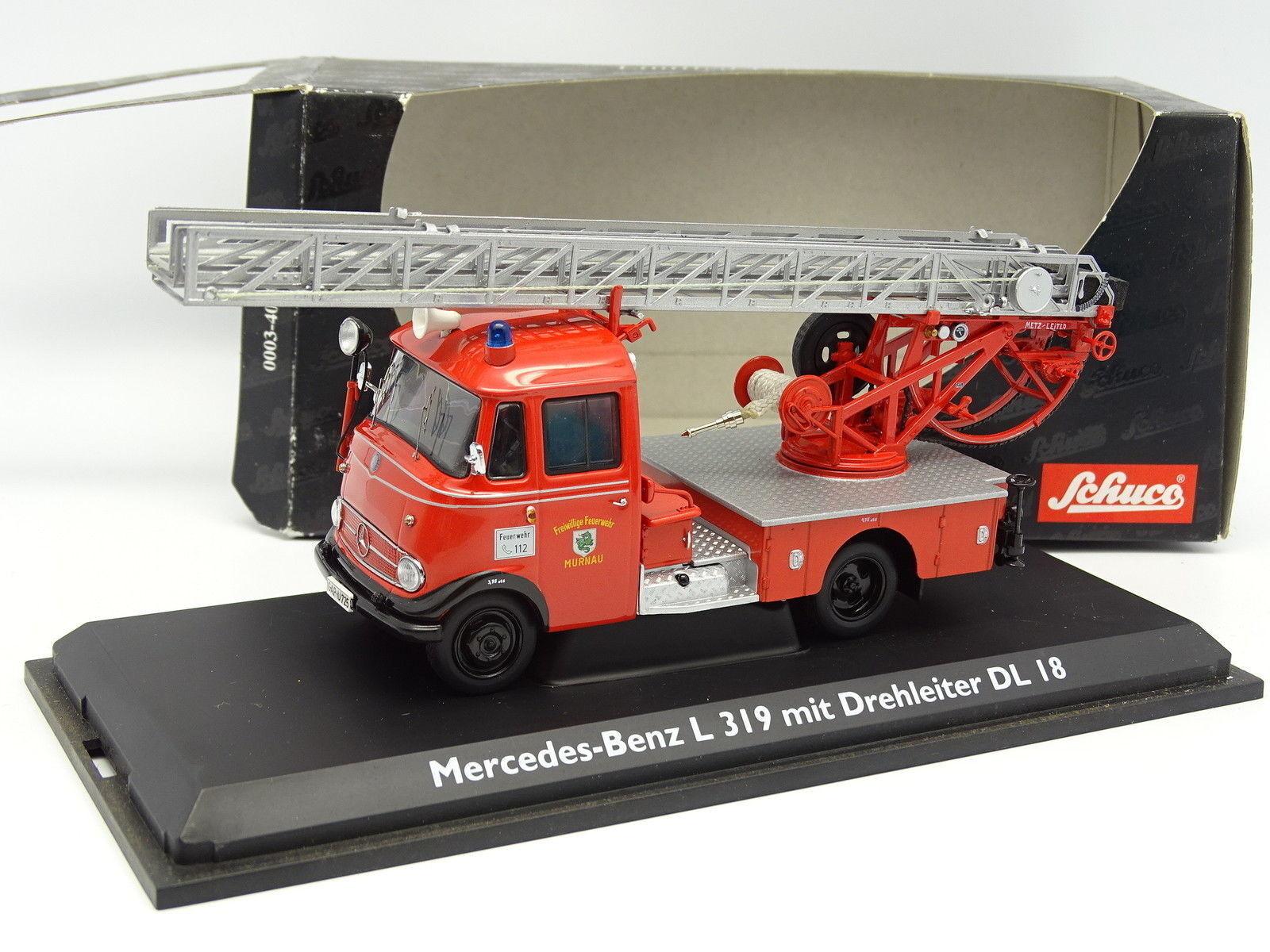 Schuco 1 43 - Mercedes L319 Grande Echelle DL18 Pompiers