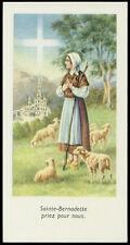 """santino-holy card""""S.BERNADETTE SOUBIROUS"""