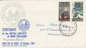 NEW-ZEALAND-1967-Royal-Society-FDC-addressed-D1962